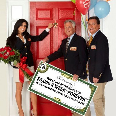 Publishers Clearing House Prize Patrol Girl