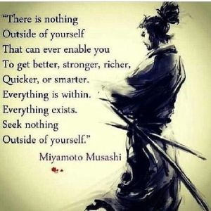 seek nothing outside yourself